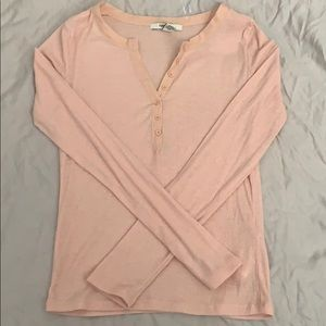 Forever21 Light Pink button up sweater